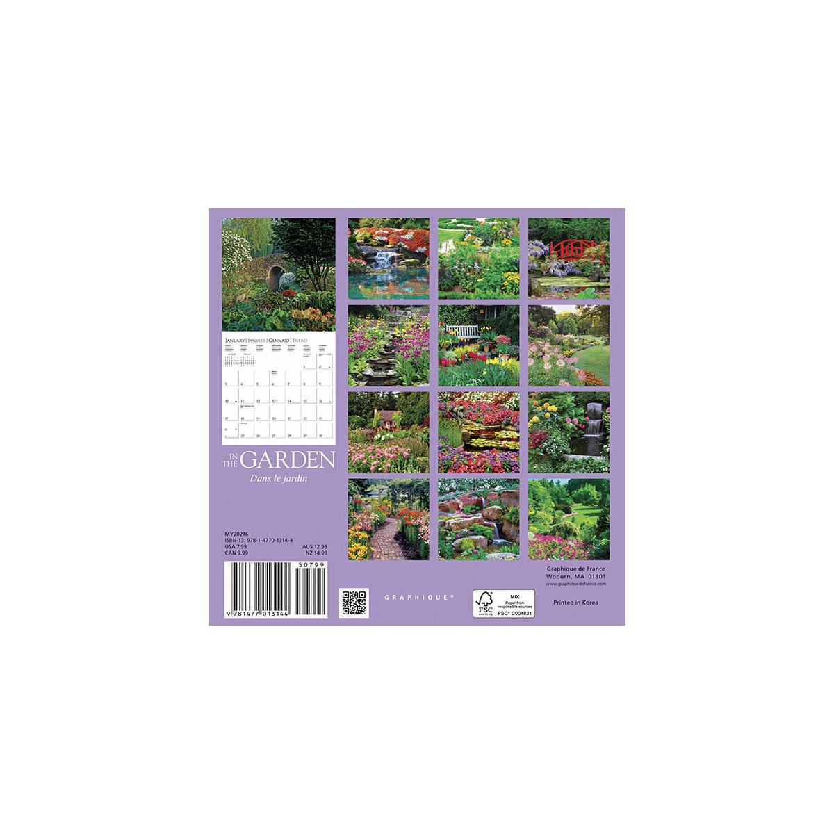 Mini calendrier jardin 2016 for Calendrier travaux jardin