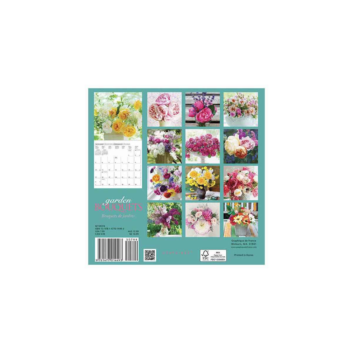 Mini calendrier bouqeuts de fleurs du jardin 2016 for Calendrier travaux jardin