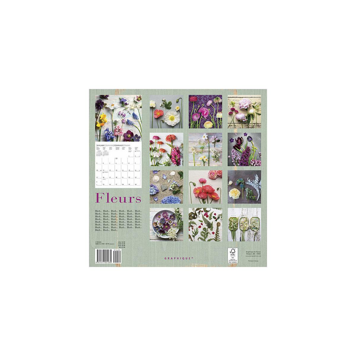 Calendrier bouquet de fleur du jardin 2015 for Calendrier travaux jardin